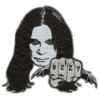 Ozzy Osbourne - Fist - Iron On Patch *** FREE SHIPPING ***