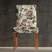 1/4 scale Upholstered Doll Dining Chair, Floral Upholstery, Modern Playscale Furniture for MSD-size BJD's, Sybarites, Tonners