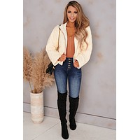 Crazy Talk Quilted Padded Jacket (Ivory)
