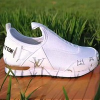 Louis Vuitton Women Shoes Velcro Toes Letters With Shoes Tail Letters Sneakers Shoes