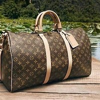 LV 3AAA classic old chess board for men and women travel bag (high quality)