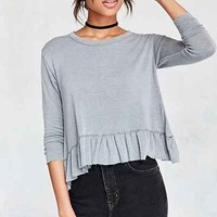 Truly Madly Deeply Serena Knit Peplum Top - Urban Outfitters