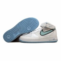 Nike Air Force 1 Mid White/Ice Blue-Black 308915-141