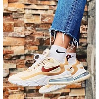 Nike Air Max 270 new couple stitching color air cushion casual sneakers