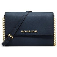 MICHAEL KORS women's fashion shopping leather shoulder bag F Blue