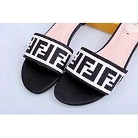 Fendi Flat bottomed slippers Shoes White