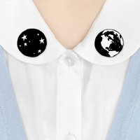 Where to Wear It collar clips - Planetarium