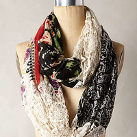 Valdivia Infinity Scarf by Anthropologie Red Motif One Size Scarves