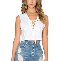 Avery Crop Top in White