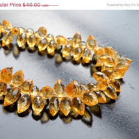 51% OFF Outstanding Citrine Gemstone Briolette AAA Faceted 3-D TearDrop Marquis Top drilled 10.5mm 23 beads