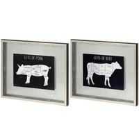 Farm To Table ~ Pig & Cow (Set of 2)