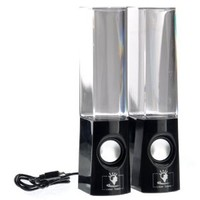2013 New Dancing Water Mini Music Speakers USB Powered Colorful LED Fountain for Iphone 4s 5 ipod Samsung S2 S3 Note blackberry Z10 MP3 /Mobile Phones/Computer 3.5mm Audio Player (Black)