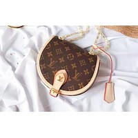 LV fashion hot selling lady printed patchwork color casual shoulder bag