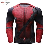 3D Printed T shirts Men Fun Deadpool 2 Compression Shirt Comics Cosplay Costume Clothes Black Friday Summer Tops For Male