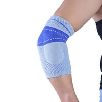 professional knitting elastic breathable volleyball elbow pads tennis  elbow support   arm sleeve  #6801