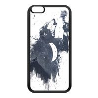 Wolf Song 3 Black Silicon Rubber Case for iPhone 6 Plus by Balazs Solti