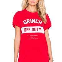 The Laundry Room Grinch Off Duty Rolling Tee in Holly