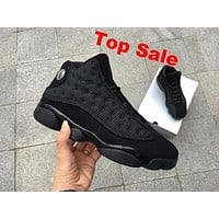 "Air Jordan 13 ""Black Cat"" 3M AJ13 Retro Men Women Basketball Shoes"
