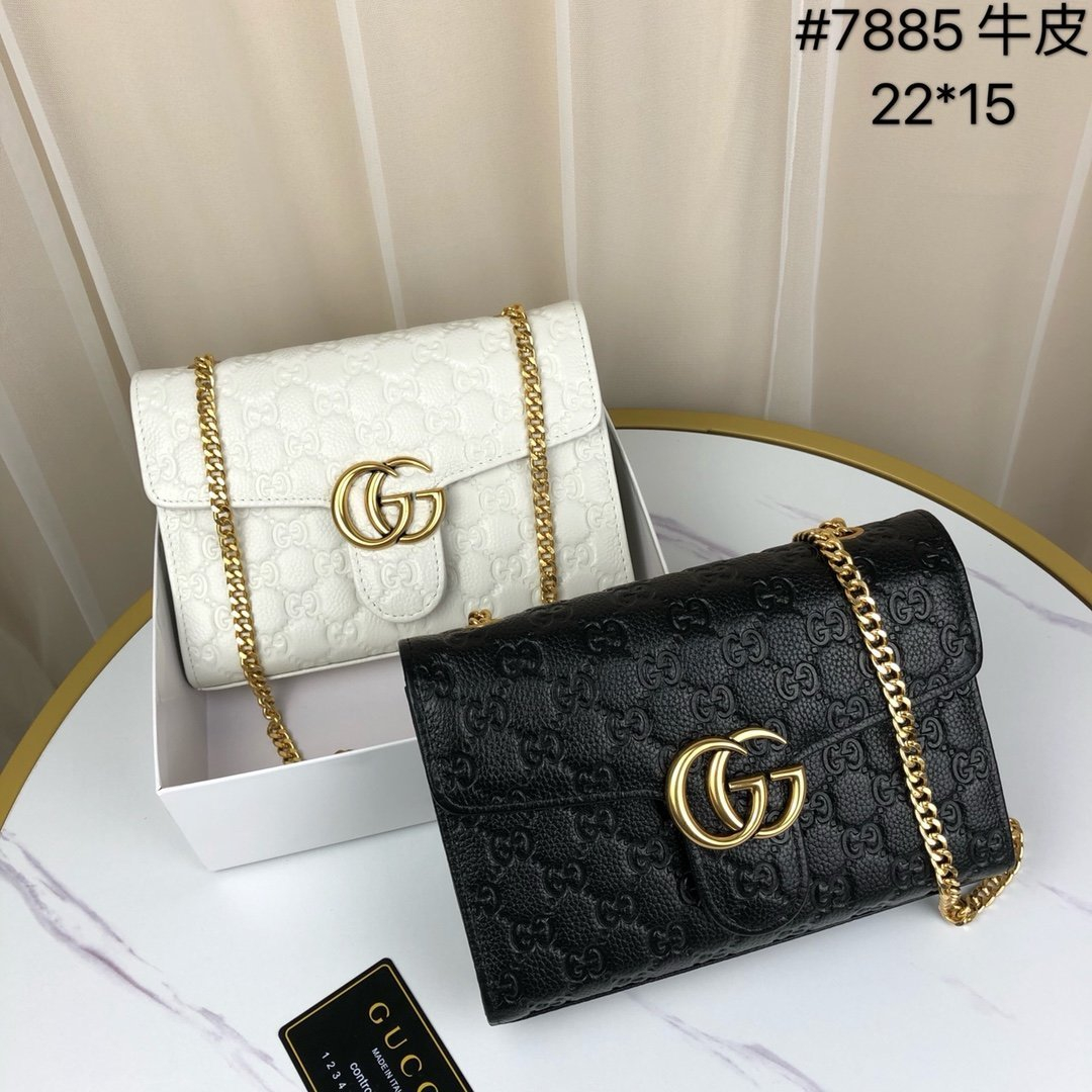 Image of Gucci Women Leather Shoulder Bags Satchel Tote Bag Handbag Shopping Leather Tote Crossbody