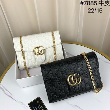 Gucci Women Leather Shoulder Bags Satchel Tote Bag Handbag Shopping Leather Tote Crossbody