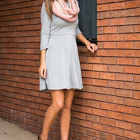 All The Right Things Dress, Grey