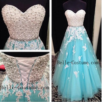 Prom Dress, Strapless Prom Dress, Long Prom Dress, 2016 Prom Dresses