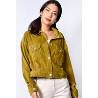 Sonoma Corduroy Shirt Jacket - Pea Green