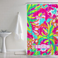 "Lilly Pulitzer Toucan Play 2017 New Shower Curtain High Quality Size 60 "" x 72 """