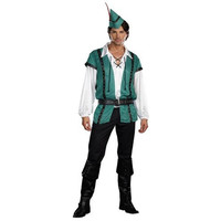 Dreamguy Mens Robin Hood Up To No Good Halloween Party Costume Set
