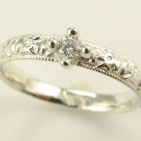 VIntagey Little Diamond Band MTO by wexfordjewelers on Etsy