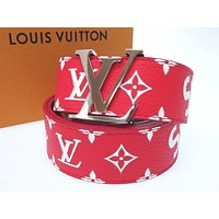 Unused San tulle LV initials 40 MM MP015 belt leather 0370 LOUIS VUITTON (20974