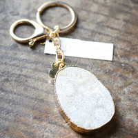 LovesAffect | Spotted Stone Statement Keychain
