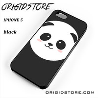 Panda Face For Iphone 5 Iphone 5S Case YG