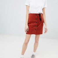 ASOS DESIGN tailored mini skirt in cord at asos.com