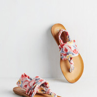 ModCloth Stay in the Loop Sandal in Painterly Floral