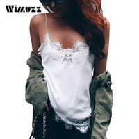Wimuzz Lace Camisole Satin Bustier Crop Top Women 2017 White Sexy Halter Tops Vest Summer Cropped Shirt