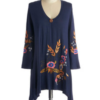 ModCloth Boho Mid-length Long Sleeve Would You Brook at That? Top