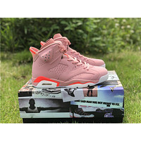 """NIKE Air Jordan 6 """"Aleali May"""" couple outfit, cherry blossom pink color 36-44"""