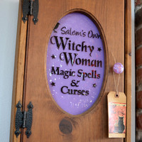Magical Witch Cabinet - Bottles - Potions - Curses - Spells - Witchy Woman - Mother's Day