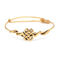 Alex and Ani Endless Knot Wrap - Russian Gold