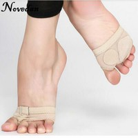 Professional Belly Ballet Dance Toe Practice Shoe Half Sole Footundeez Foot Thongs For Modern Dance Socks Sandal Step Gym Shoes