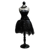 Black Mannequin Dress Form with Black Stand