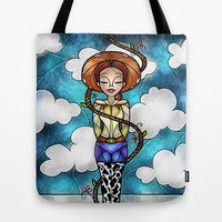 The rootinest tootinest cowgirl in the wild wild west Tote Bag by Mandie Manzano
