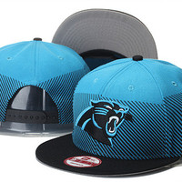 Carolina Panthers New Era 9FIFTY Line Fade Black Bill Snap Back Hat