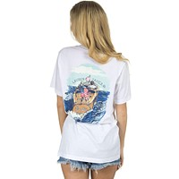 On the Lake Sweet Life Tee in White by Lauren James