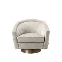 Beige Swivel Barrel Chair | Eichholtz Catene