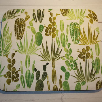 cactus mouse pad succulents Mouse Pad mousepad / Mat - round -  Computer/Accessories  Custom Desk Coworker Gifts Office Gifts