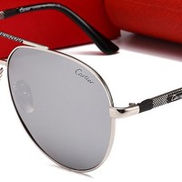 Cartier Women Fashion Trending Popular Summer Sun Shades Eyeglasses Glasses Sunglasses Silver/Golden/Silver G-HWYMSH-YJ