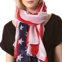 Spun Scarves by Subtle Luxury USA Flag Scarf | SHOPBOP Save 20% with Code WEAREFAMILY13