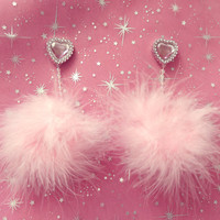 Light Pink Pom-Pop Earrings